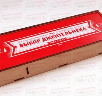 упаковка из дерева для корпоративного подарка