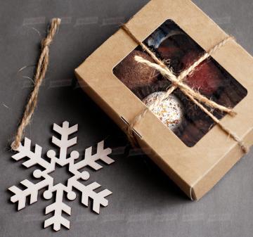 Набор конфет ручная работа, с алкоголем  6 шт. Подарки к Новому году деловым партнерам, коллегам и клиентам