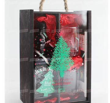 Новогодние подарки клиентам с алкоголем