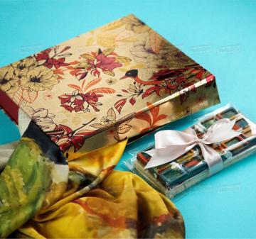 Подарки клиентам  к профессиональным праздникам и мероприятиям   -Женский головной платок 70х70, шелковый с авторским принтом.  Креативный шоколад, подарочная упаковка кашированный картон. Брендирование. Изготовление, пошив платков по вашему ТЗ. Дизайн-макеты платков.
