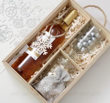 Корпоративные подарки на Новый год  с алкоголем