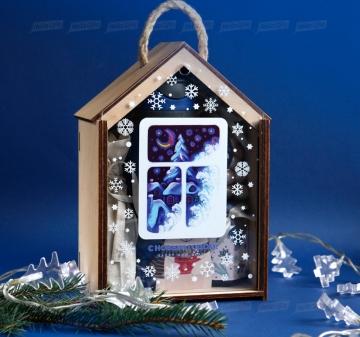 Производство подарочной упаковки из дерева - Домик