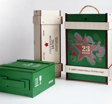 Упаковка для подарков из дерева на заказ