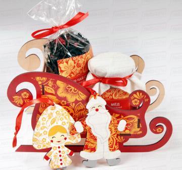 Корпоративные подарки на Новый год . Ёлочные игрушки Дед Мороз и Снегурочка
