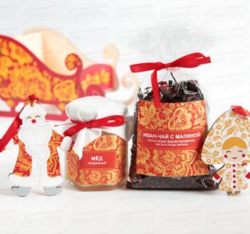 Корпоративные подарки на Новый год  2021 . Ёлочные игрушки Дед Мороз и Снегурочка. Подарки в русском стиле