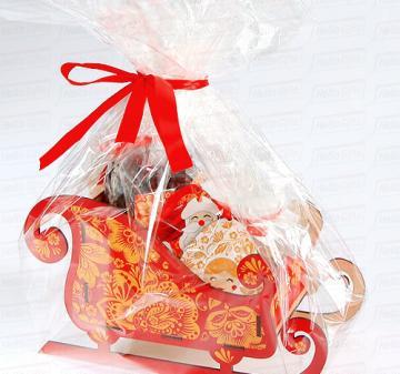 Корпоративные подарки на Новый год . Сани деда Мороза в стиле золотая Хохлома