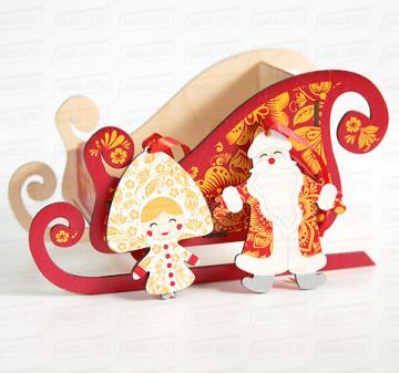 Оригинальные подарки  Ёлочные игрушки Дед Мороз и Снегурочка  